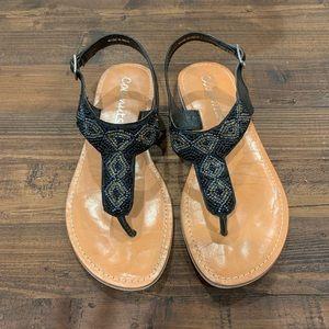 Matisse Blue jewel sandals
